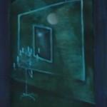 Verrücktes Bild V, Öl auf Pappe, ca. 20x35, 1997