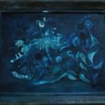 Nachtweben, Öl auf Hartfaser, ca. 100x 80, 1999 & 2013