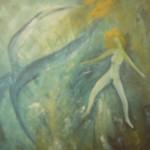 the touch, Öl auf Leinwand, ca. 93x86, 1998