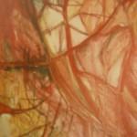 Gewebe I, Mischtechik auf Hartfaser, ca.30x90, 1998