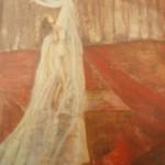 Tanz allein, Mischtechnik auf Hartfaser,70x90, 1997
