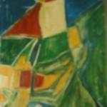 Schmetterlingsflu, Acryl auf Hartfaser, 60x90, 1997