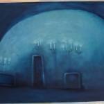 Geheimnisvoll, öl auf Hartfaser, 90x58, 2001