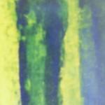 Selbstporträt, Acryl auf Hartfaser, 40x70, 1997