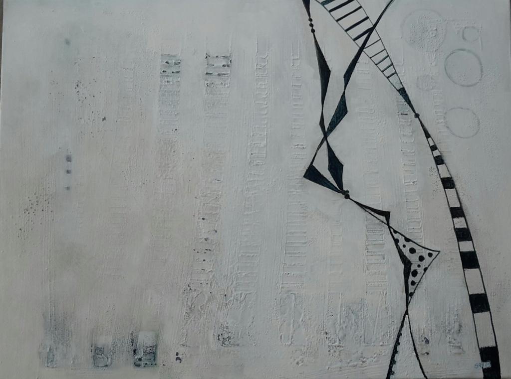 ohne Titel, Mischtechnik auf Leinwand, 80x60, 2015