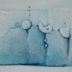 ohne Titel, Mischtechnik auf Leinwand, 50x40, 2015