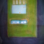 BlauPlan, Mischtechnik auf Papier, ca. A3, 2003
