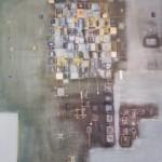 Blau amüsiert sich, Mischtechnik auf Papier, ca. A3, 2002
