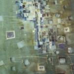 Titel unbekannt, Mischtechnik auf Papier, ca. A3, 2002