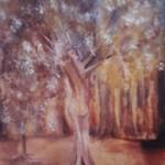 Zwei im Park, Öl auf Hartfaser, ca. 40x60, 1997