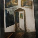 Verrücktes Bild III, Mischtechnik auf Pappe, ca. 30x40, 1997