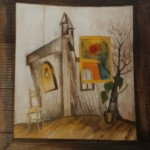 Verrücktes Bild II, Mischtechnik auf Pappe, ca. 30x40, 1997