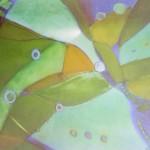 ohne Titel, Kreise auf Pappe, ca. 40x40, 2004