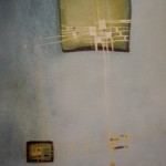 Im Gleichgewicht, Mischtechnik auf Pappe, 18x23, 2003