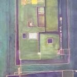 EindeutiGrün, Mischtechnik auf Papier, ca, A3, 2003