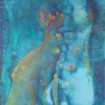 ohne Titel, Öl auf Papier, 48x36, 1999