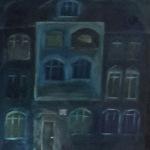Das Haus in dem ich wohne, Öl auf Papier, ca. A3, 1995