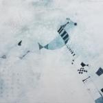 ohne Titel, Mischtechnik auf Leinwand, 50x70, 2019