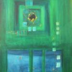 Blau kommt Weg ab, Mischtechnik auf Papier, 33x41, 2002