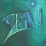 Stille Momente des Glücks (1), Öl auf Hartfaser, 30x30, 1998