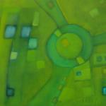 Grüner Sommertag, Mischtechnik auf Leinwand, 70x50, 2003