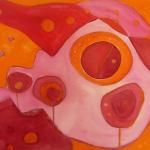 Rosenmontag I, Mischtechnik auf Leinwand, 70x50, 2008
