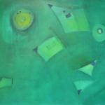 Etwas Blau ist überall, Öl auf Leinwand, 80x60, 2003