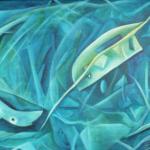 Heilloses Durcheinander, Mischtechnik auf Hartfaser, 97x67, 1999