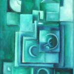 Sonnenfinsternis, Öl auf Hartfaser, 62x93, 1999