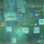 ohne Titel, Mischtechnik auf Hartfaser, 54x98, 2002