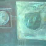 ohne Titel, Öl auf Hartfaser, 50x70, 2001