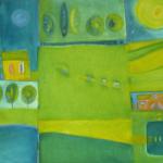 Handeloh, Mischtechnik auf Leinwand, 2003