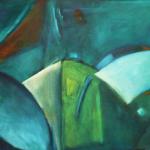 ohne Titel, Acryl auf Hartfaser, 70x 51, 1999