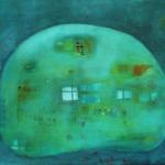 ohne Titel, Öl auf Hartfaser, 70x50, 2001