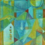 ohne Titel, Mischtechnik auf Hartfaser, 45x80, 1999