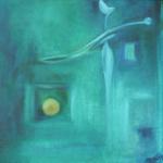 Stille Momente des Glücke (2), Öl auf Hartfaser, 30x30, 1998