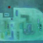 Blau im Winterurlaub, Öl auf Leinwand, 80x60, 2004