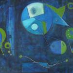ohne Titel, Mischtechnik auf Leinwand, 70x50, 2010