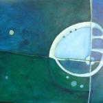 ohne Titel, Mischtechnik auf Leinwand, 60x40, 2010