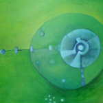 ohne Titel, Mischtechnik auf Leinwand, 70x50, 2009