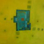 Blau in der Sommerfrische, Mischtechnik auf Leinwand, 80x60, 2004
