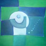 ohne Titel, Mischtechnik auf Leinwand, 60x40, 2009