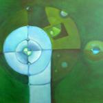 ohne Titel, Mischtechnik auf Leinwand, 80x60, 2010