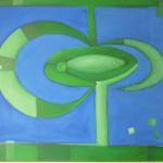 ohne Titel, Mischtechnik auf Leinwand, 70x50, 2008