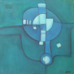 ohne Titel, Mischtechnik auf Leinwand, 50x50, 2012