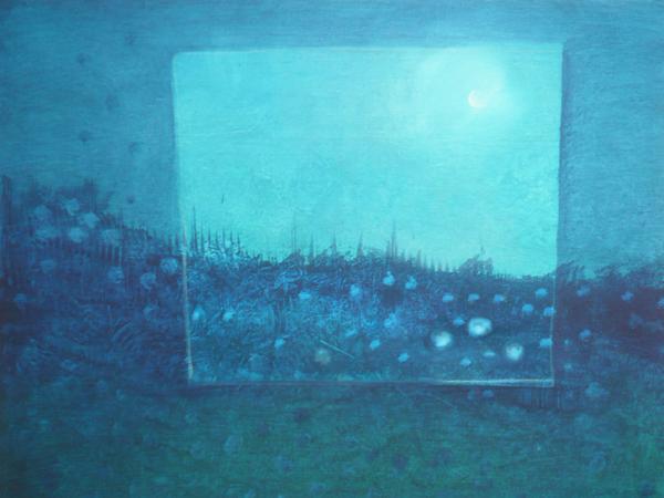 Ohne Titel, Mischtechnik auf Leinwand,50x40, 2013